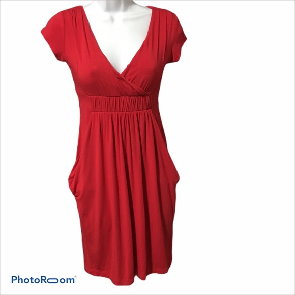 Red Dynamite Dress with Pockets